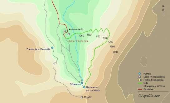 Mapa - Subida a la cueva de los Chorros