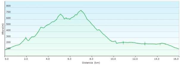 Perfil - Subida al Montgó desde Denia por la Cova de l'Aigua