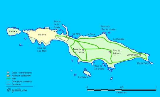 Mapa - Paseo por la isla de Tabarca