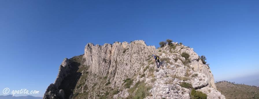 Vista de la cresta del Benicadell