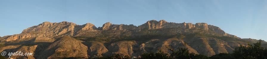 Vista de la solana de Bernia