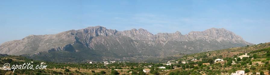 Vista de la umbría de Bernia