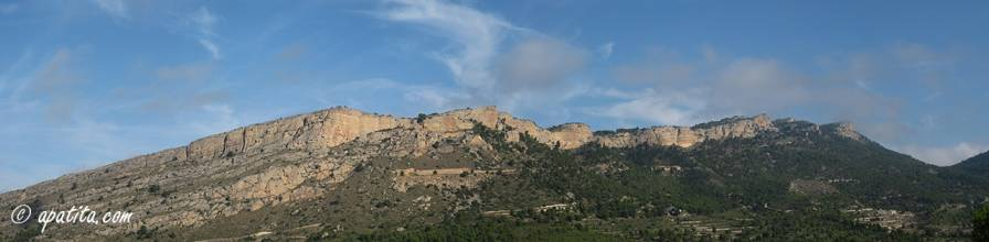 Vista de la cresta del Fraile y del Despeñador