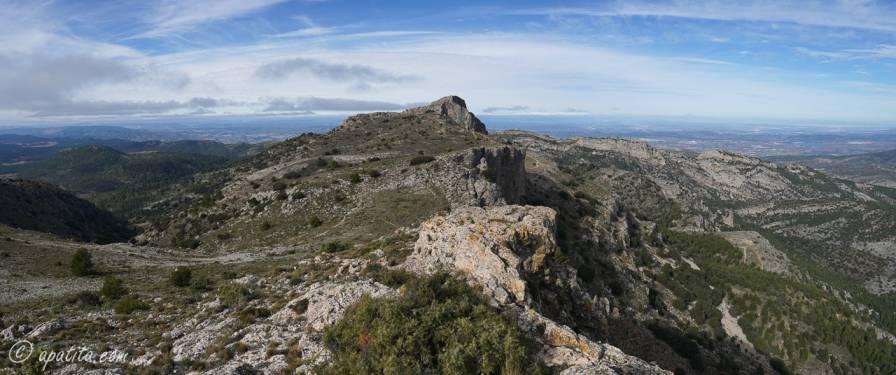 Vista del Montcabrer desde Penyes Monteses