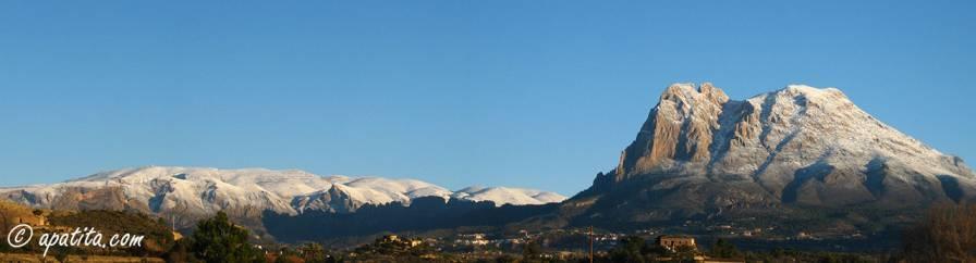 Vista de Aitana y Puig Campana