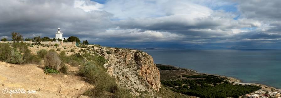 Vista del cabo de Santa Pola