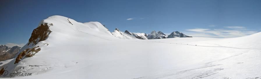 Vista del Breithorn desde la estación del Kleine Matterhorn