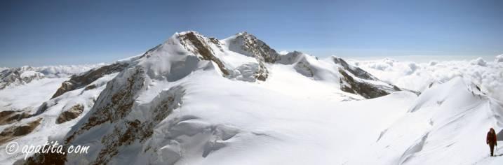 Vista del Lyskamm desde el Cástor