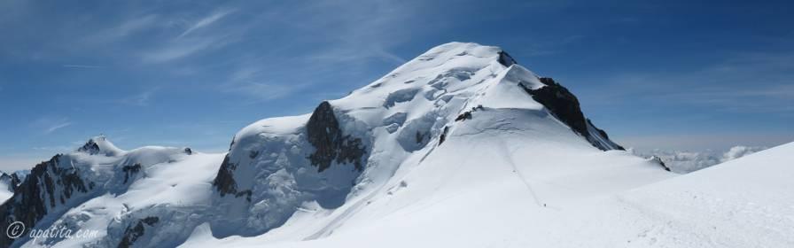 Mont Blanc visto desde la Dôme de Goûter
