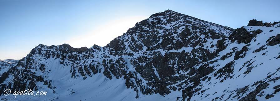 Vista de la cara norte del Mulhacén