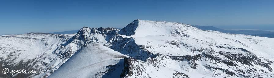 Vista del Mulhacén desde el Veleta