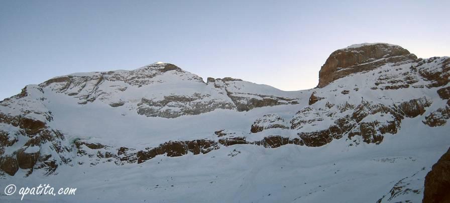 Cara norte de Monte Perdido