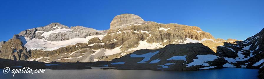 Vista de la norte de Monte Perdido y Cilindro