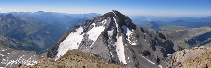 Vista de Monte Perdido desde el Cilindro