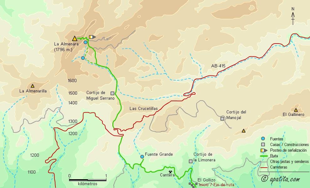 La Almenara Desde Ri 243 Par Subida Al Pico Almenara Desde