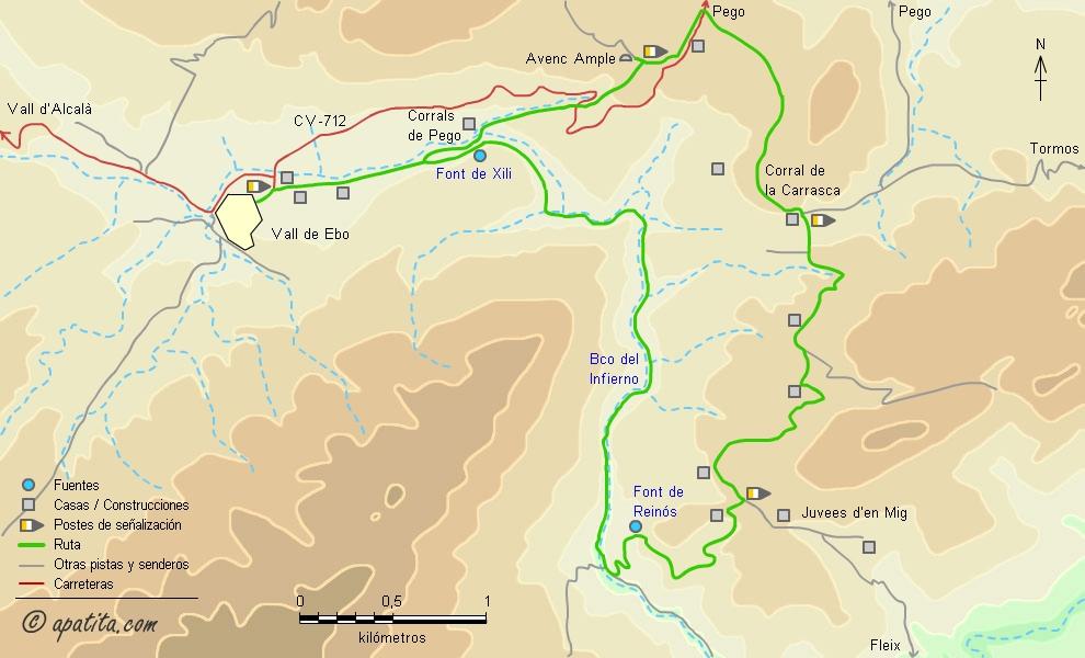Barranc de l'Infern - Vall de Ebo - Recorrido por la parte