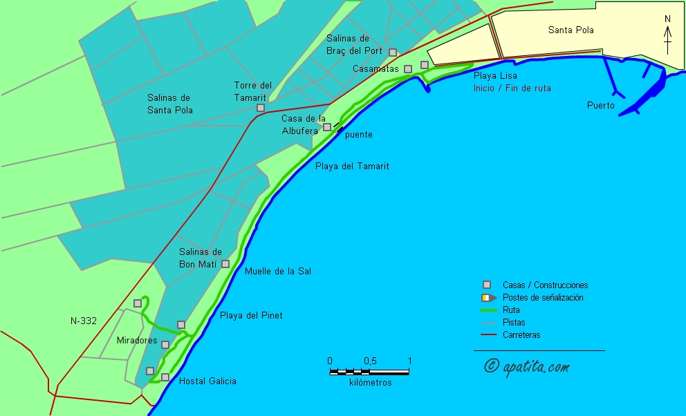 Mapa De Santa Pola.Santa Pola El Pinet Recorrido Costero Entre Santa Pola Y