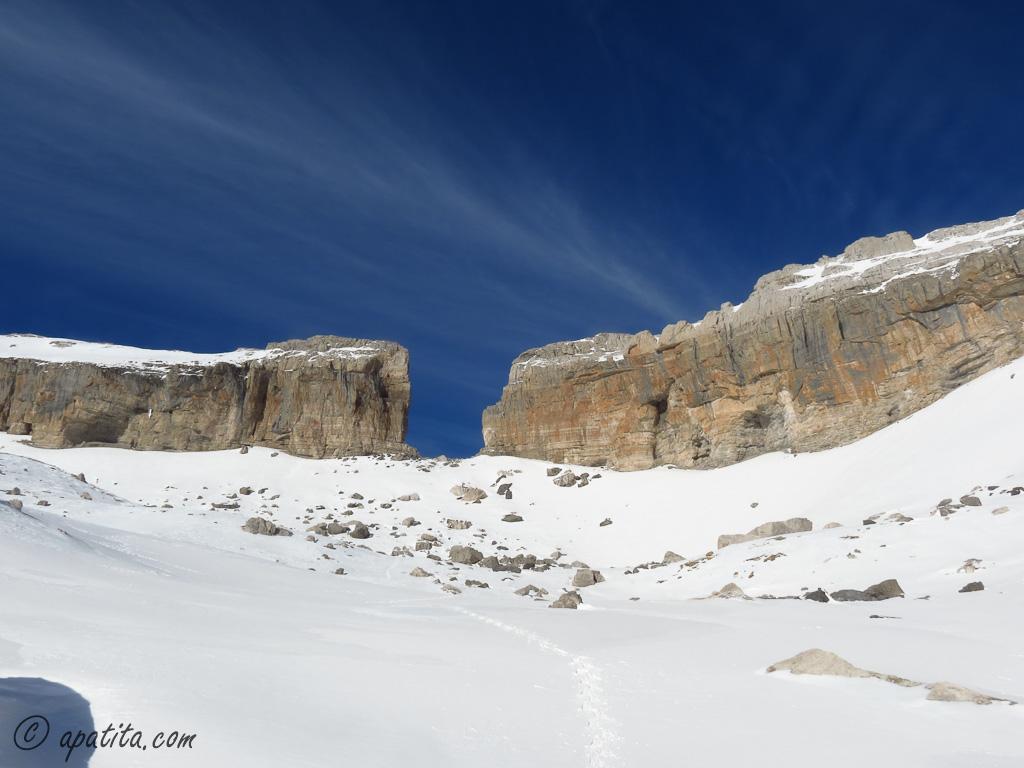 Imagen invernal de la Brecha de Rolando