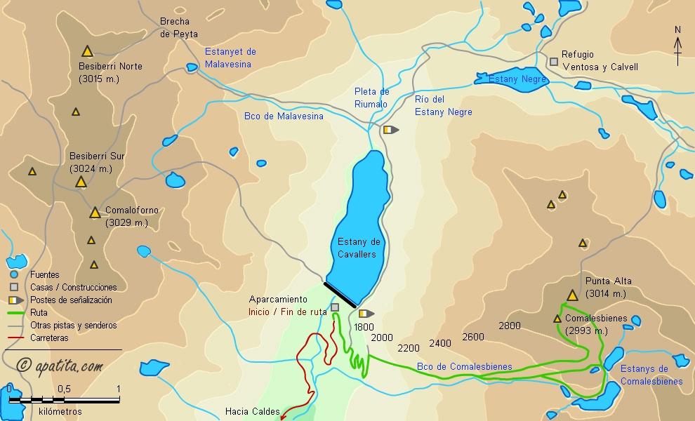 Punta alta de comalesbienes subida a comalesbienes desde la presa mapa subida a comalesbienes desde la presa de cavallers thecheapjerseys Images