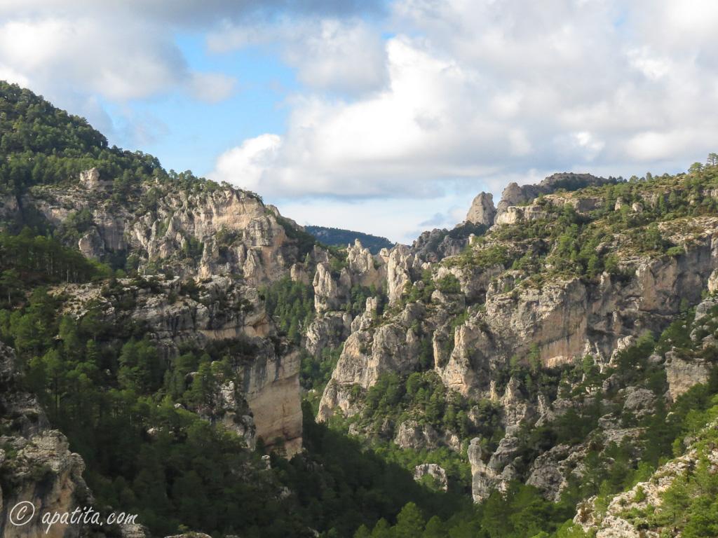 Vista del cañón del río Matarraña